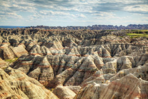 Scenic view at Badlands National Park, South Dakota, USA in the day light